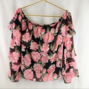 INC Blouse Flowered Top With Lining